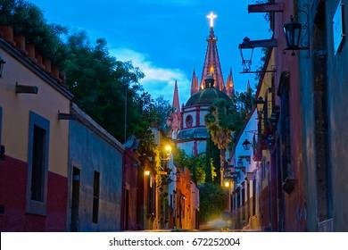 San Miguel De Allende UNESCO Site At Sunset
