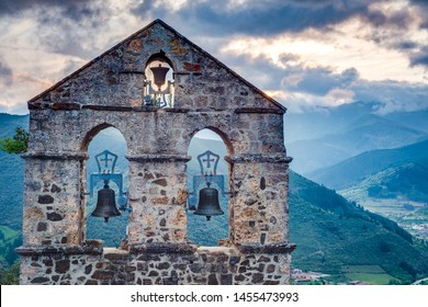 San Miguel Hermitage near Potes, one of the most interesting tourist spots of the Comarca of Liebana near Santander, Cantabria province, Spain.