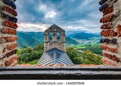 San Miguel Hermitage near Potes, one of the most interesting tourist spots of theComarcaofLiebananear Santander, Cantabria province, Spain.