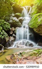 San Ngorn Waterfall, the beautiful waterfall in deep forest at Khao Yai National Park, Thailand