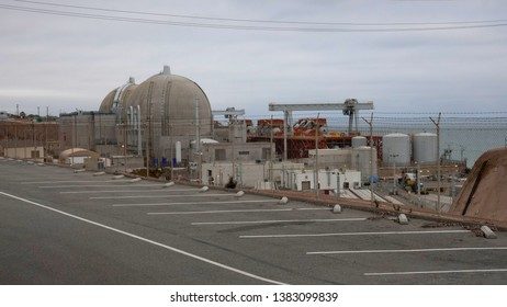The San Onofre nuclear power plant, which was shut down in 2013 and is scheduled for decommission and dismantling. Photo taken San Onofre, CA / USA on April 28, 2019.
