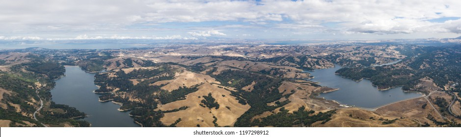The San Pablo and Briones reservoirs, east of Berkeley and Oakland, are part of a complex network of watersheds that supply water to the East Bay. This area is popular for hiking and fishing.