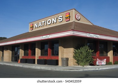 SAN PABLO, CALIFORNIA - DECEMBER 26, 2016: Nations Giant Hamburgers are a fixture in the East Bay. The chain was founded in 1952.