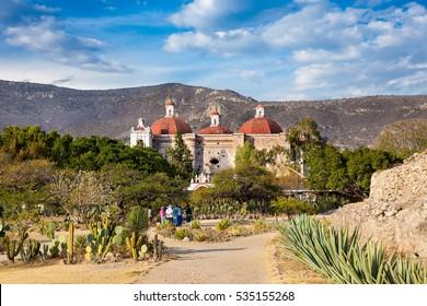 San Pablo Church In Mitla, near Oaxaca, Mexico.