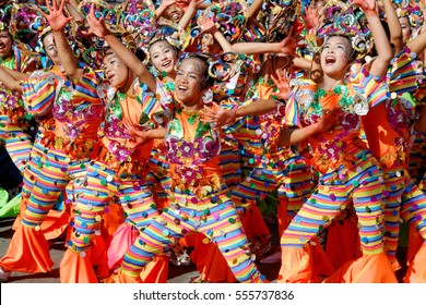 San Pablo City, Laguna, Philippines - CIRCA January 13, 2017: Cocofestival in San Pablo City, Laguna, Philippines is a colorful yearly festival celebrated in San Pablo City, Laguna.