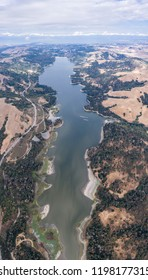 The San Pablo reservoir, east of Berkeley and Oakland, is part of a complex network of watersheds that supply water to the East Bay. This area is popular for hiking and fishing.
