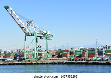 SAN PEDRO, CA - OCT 20: Port of San Pedro in Los Angeles, California,on Oct 20, 2018. It has grown from being dominated by the fishing industry to become primarily a working class community in LA.