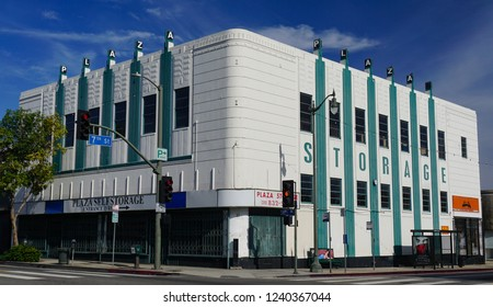 San Pedro, California USA - November 25, 2018; The former S. H. Kress Five and Ten Cent store, Art Deco building built in 1938. Edward F. Sibbert, architect. 644 S. Pacific Ave.