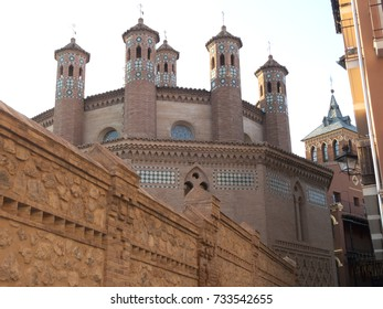 San Pedro Church, a mudejar 14th-century church and 13th century bell tower in Teruel, Aragon, Spain