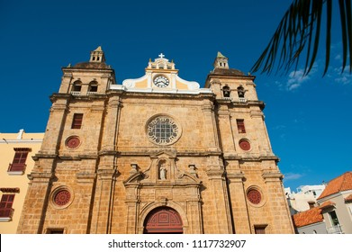 San Pedro Claver church, Cartagena de Indias, Colombia. UNESCO World Heritage Site.