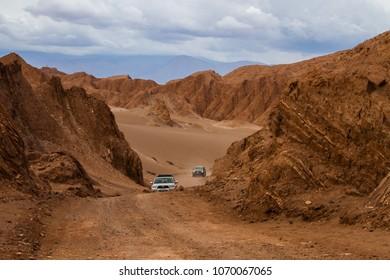 San Pedro de Atacama, Atacama. Chile; 020818: Driving in Death Valley