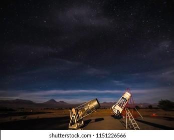 San Pedro de Atacama, Chile - December 20 2015: Astronomical telescope in San Pedro Acatama Desert Chile