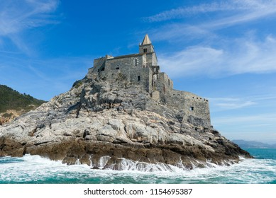 San Pietro Church view from the sea, Portovenere, Italy