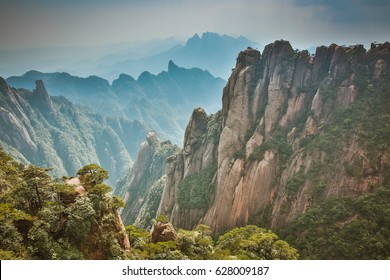 San Qing Mountain National Park in Jiangxi Province, China, home to many Taoism Temple and an UNESCO Global Geopark
