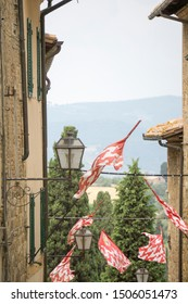 San Quirico di Orcia in Orcia valley Tuscany on July 7, 2019 Italy