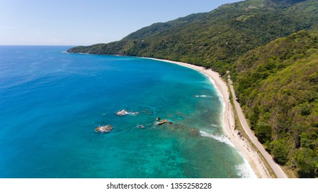 San Rafael Beach, Barahona, Dominican Republic. Home of the Larimar stone whose beautiful colors resemble the turquoise tones of the waters at San Rafael.