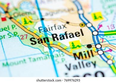 San Rafael California Usa On Map Stock Photo Edit Now 1031640181