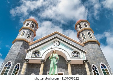 San Rafael church in the town of Zarcero, Costa Rica