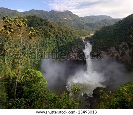 San Rafael Waterfall, Ecuador (hi-res 100Mp image)