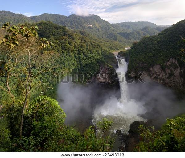 San Rafael Waterfall, Ecuador (hi-res 100Mp image)
