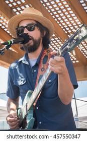 San Raphael, CA/USA - 7/17/16 : Jackie Greene performs at Terrapin Crossroads.