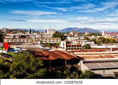 SAN SALVADOR - EL SALVADOR - JAN 30, 2018: Scenic view of San Salvador - the capital of El Salvador. Latin America