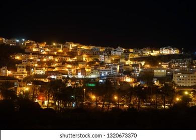 San Sebastian de la Gomera at night, Canarian islands, Spain