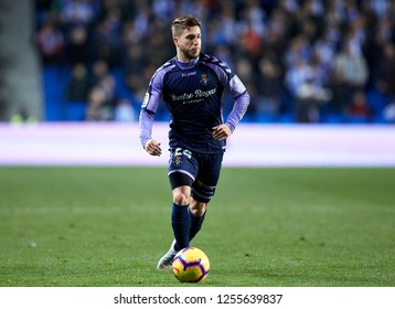 San Sebastian, northern Spain, Monday, December, 09, 2018. Sergio Gontan during the Spanish La Liga soccer match between Real Sociedad C.F and Valladolid C.F at Anoeta stadium.
