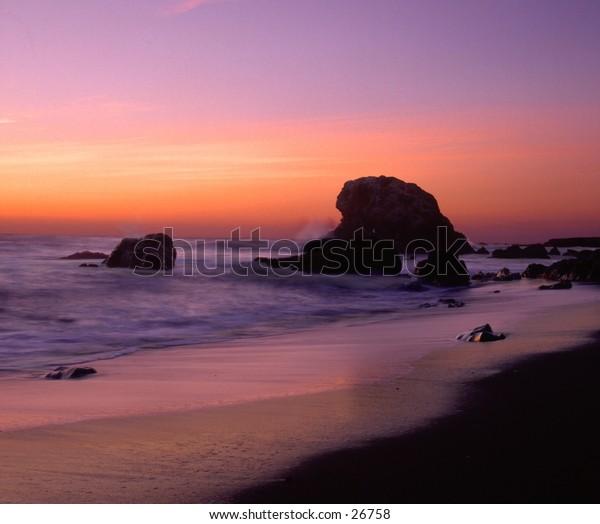 San Siemon California at the beach