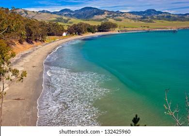 San Simeon Bay, Central California