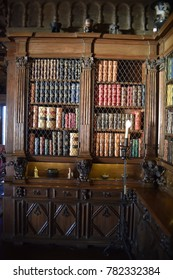 San Simeon, CA., U.S.A.  December 6, 2017. William R. Hearst Castle. San Simeon California State Historical Monument. Antiquarian Library