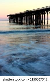 San Simeon pier, in San Simeon State Park near Hearst Castle, central coast of California, USA