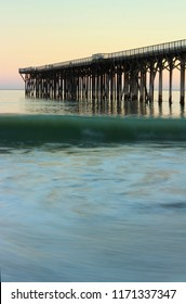 San Simeon pier, in San Simeon State Park near Hearst Castle, Pacific Coast Highway, central California, USA