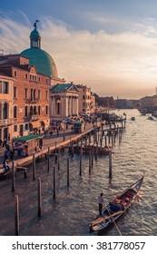 San Simeone Piccolo, the Grand Canal and West Venice from Ponte degli Scalzi