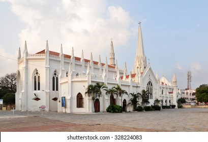San Thome Basilica is a Roman Catholic minor basilica in Chennai, India. It was built in the 16th century by Portuguese explorers, over the tomb of St. Thomas, an apostle of Jesus.