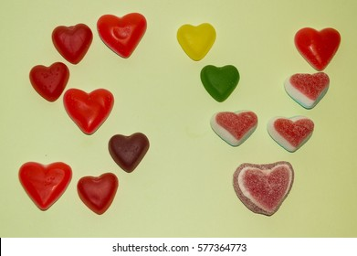 San Valebtine Letters made by seeet hearts candies