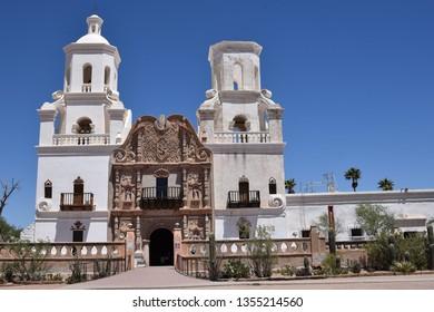 San Xavier Mission near Tucson Arizona built in the 1700s