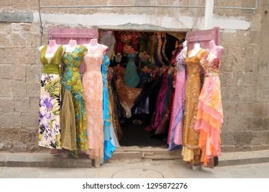 Sana / Yemen - July 29, 2010: A shop selling women's clothes in Yemen.