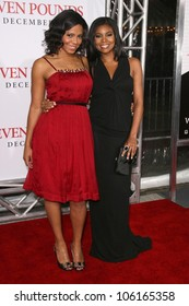 Sanaa Lathan and Gabrielle Union   at the Los Angeles Premiere of 'Seven Pounds'. Mann Village Theatre, Westwood, CA. 12-16-08