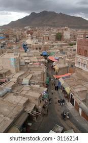 Sanaa Market Cityscape