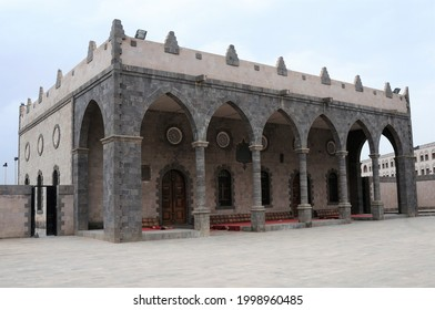 Sana'a, Yemen - August 2, 2010: Mosque in the courtyard of the Yemen Presidential Palace.