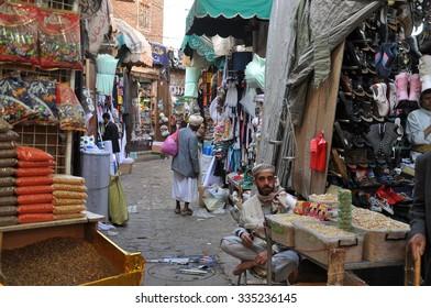 SANAA, YEMEN - Dec,28: Market place in Sanaa on December 28, 2009. Sanaa, Yemen