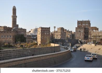 SANAA, YEMEN - Jan, 03: Traditional architecture on January, 03, 2010 in Sanaa, Yemen