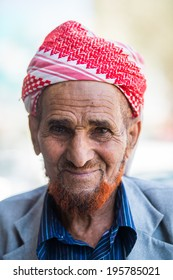 SANA'A, YEMEN - JAN 11, 2014: Unidentified Yemeni local man in a turban. People of Yemen suffer of poverty due to the unstable political and poor economical situation