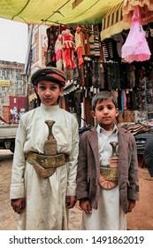 Sanaa / Yemen - July 29, 2010: A view from Sanaa, the capital of Yemen