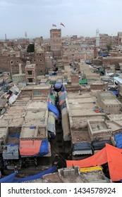Sana'a / Yemen - July 30, 2010: A view from Sana'a, the capital of Yemen