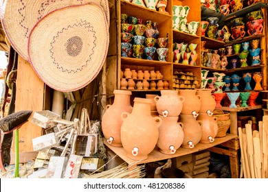 SANAA, YEMEN - MAR 12, 2014: Market place in Sanaa, Yemen. Sanaa is is the largest city in Yemen and the centre of Sana'a Governorate