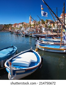 Sanary harbor on the Cote d'Azur in the south of France