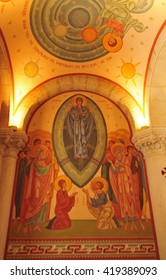 Sanary sur Mer, France - april 20 2016 : the Saint Nazaire church