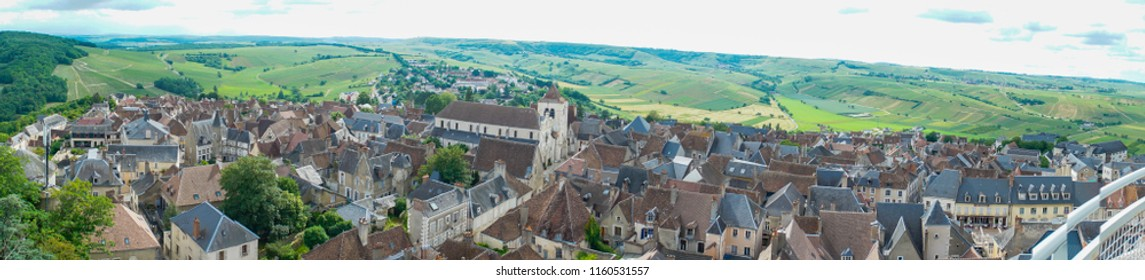 Sancerre, France view from tower, skyline panoramic year 2018
